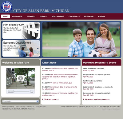City of Allen Park Web Designer