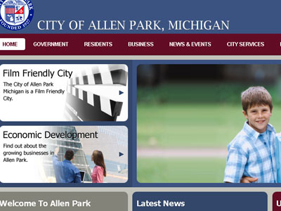 Web Designer for the City of Allen Park, Michigan